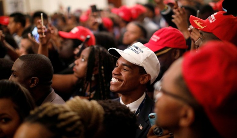 "U.S. President Trump hosts the ""2018 Young Black Leadership Summit,"" at White House in Washington"